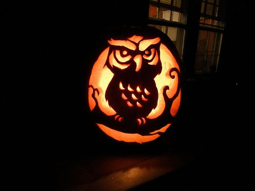 #Owl #Pumpkin Carving - Cute idea for Fall!