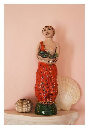 Maureen Visage   'Fish out of Water'   Glazed Earthenware