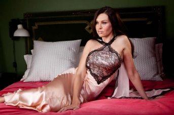 Silk & Lace Nightdress - Jane Woolrich 8273