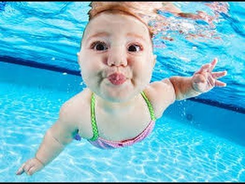 Baby Swimming - Baby Underwater - Cute Baby by Funny Videos Channel - YouTube