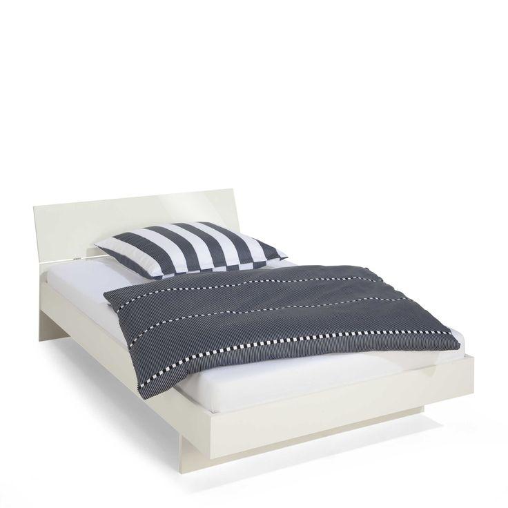 Holzbett weiß  Pinterest'teki 25'den fazla en iyi Bett 120x200 weiß fikri ...