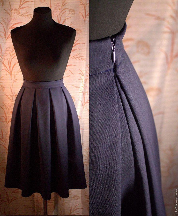 Купить Юбка миди шерсть - разноцветный, юбка, юбка теплая, юбка зимняя