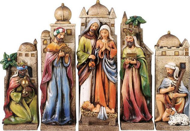 10 25 5 piece nativity scene 10 25 high 5pc