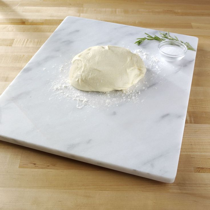 "Sur La Table® White Marble Pastry Board, 16"" x 20""  I need this, it comes with a marble rolling pin for just $32"