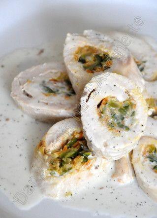 Ballotines de dinde farcies aux petits légumes et leur sauce à la vanille - Dans la cuisine d'Audinette