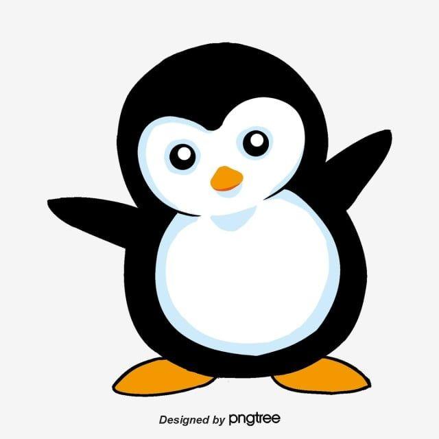 Joli Dessin Peint A La Main Des Pingouins Png Et Psd Penguin Drawing Cartoon Clip Art Cute Penguins