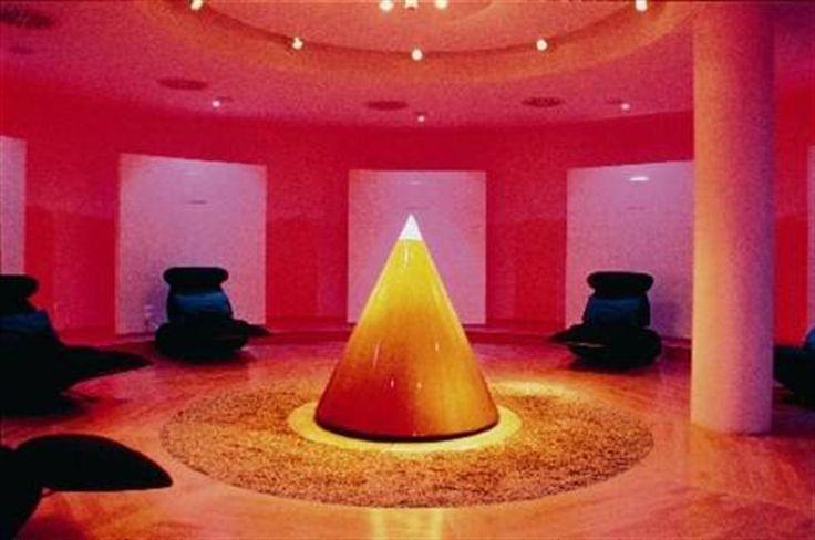 La casa de la selección  El Zeitraum, una sala de meditación.