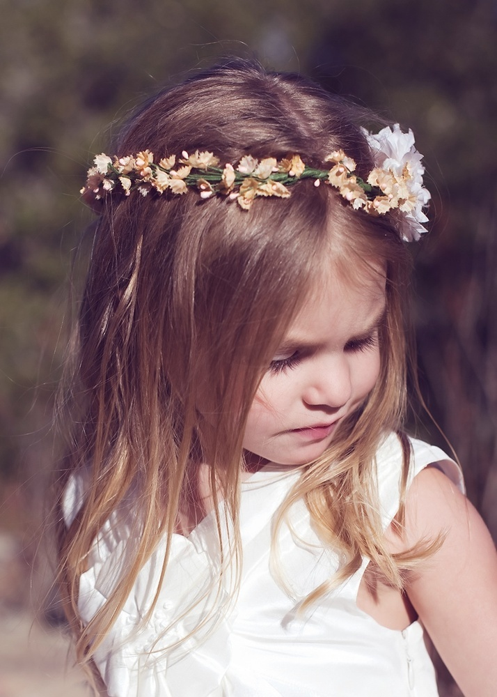 Cute flower girl halo