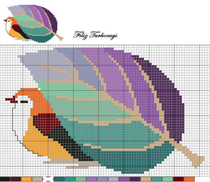 Kuş Seri Desen: 8 ( Bird Series: 8 ) Designed by Filiz Türkocağı Kuş artık yoruldu. Biraz dinlensin istiyorum...
