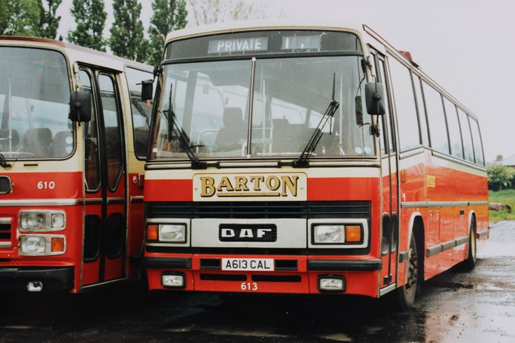 'PARAMOUNTS' - Fleet number 613, One of the first batch of Plaxton Paramount bodied DAF MB200s delivered to Barton in 1983