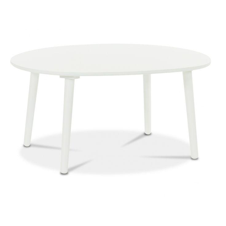 Köp - 895kr! Ekeby soffbord - Vit. Ekeby är ett vitt soffbord i en rund, assymetrisk design.