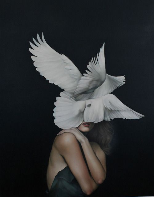 haunting paintings by Amy Judd