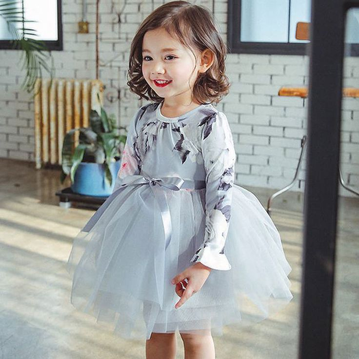 Polyester & Cotton Ball Gown Children Princess Costume & for girl printed floral more colors for choic - YYW