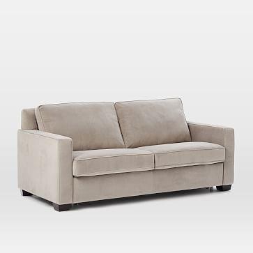 Henry® Pull-Down Full Sleeper Sofa - Dove Gray (Performance Velvet) #westelm