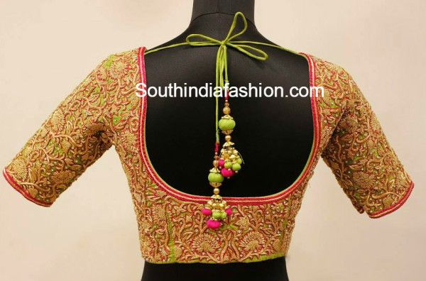 heavy work designer blouse for pattu sarees