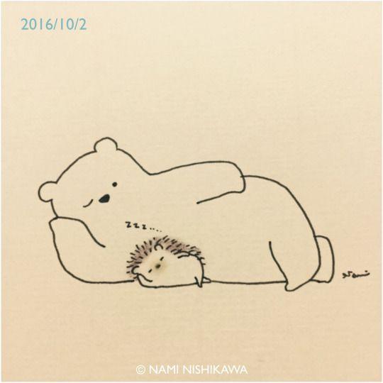 Big Bear Tiny Hedgehog Pals