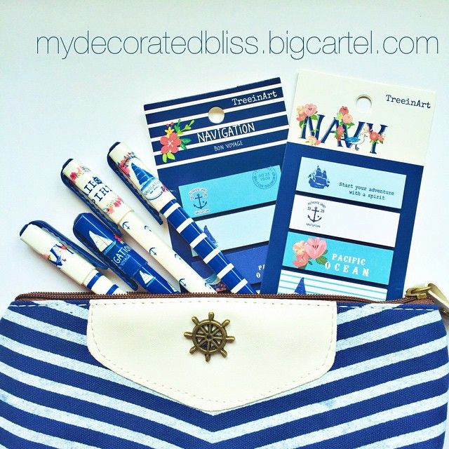 "@mydecoratedbliss's photo: ""⚓️Ahoy there⚓️ New nautical pens to match the nautical stickies now available in the shop⚓️ #planner #plannerlove #planneraddict #plannerjunkie #plannergoodies #filofax #kikkik #kikkikplannerlove #filofaxgoodies #kawaii #stickynotes #mydecoratedbliss #nautical #pens"""