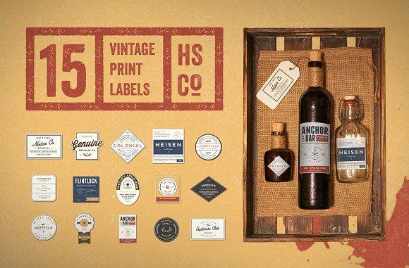 @newkoko2020 50% Off - Vintage Print Label Kit by Hustle Supply Co. on @creativemarket #bundle #set #discout #quality #bulk #buy #design #trend #vintage #vintagegraphic #graphic #illustration #template #art #retro #icon