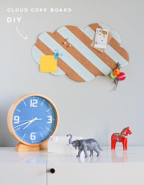 DIY // cork board cloud project