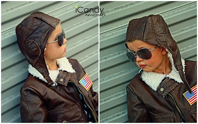 Awesome aviator helmet tutorial!  Really awesome!  Can't wait to cut up an old leather jacket and get to work.
