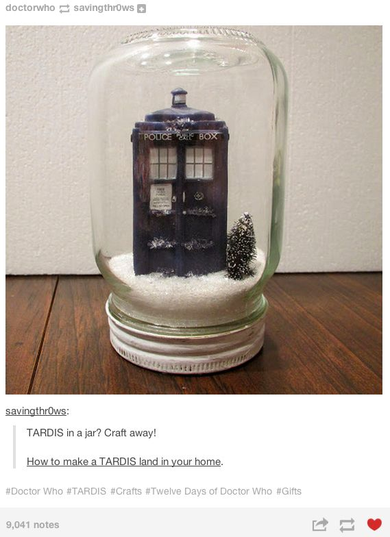 This Whovian who made a bubble universe that's bigger on the inside.   19 Whovians Whose Christmas Game Is Too Strong