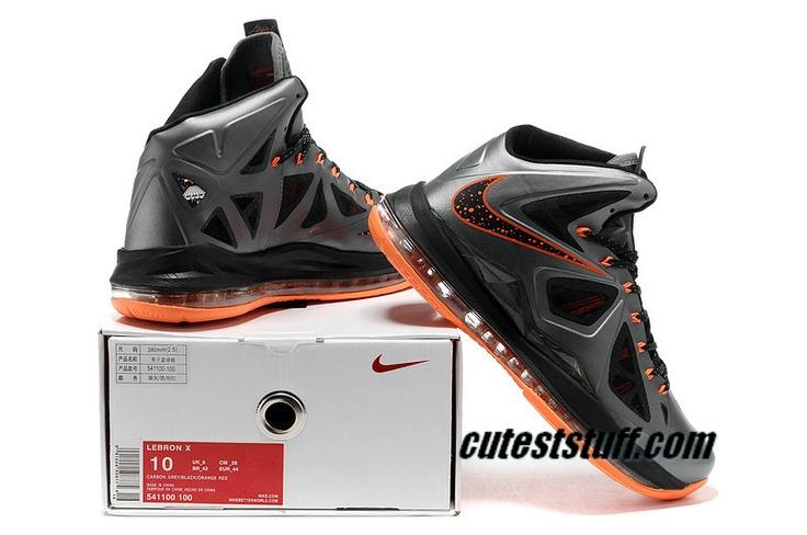 Lebron Sneakers 2013 Nike Lebron X Booed Silver Orange 541100 100 For Sale