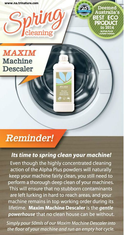 Time to Spring Clean your Machine? Use our Maxim #Descaler for the best results, and the earth will thank you :-). Order yours today at www.theDANAturaway.com.au or PM me for capped shipping. www.facebook.com/theDANAturalway