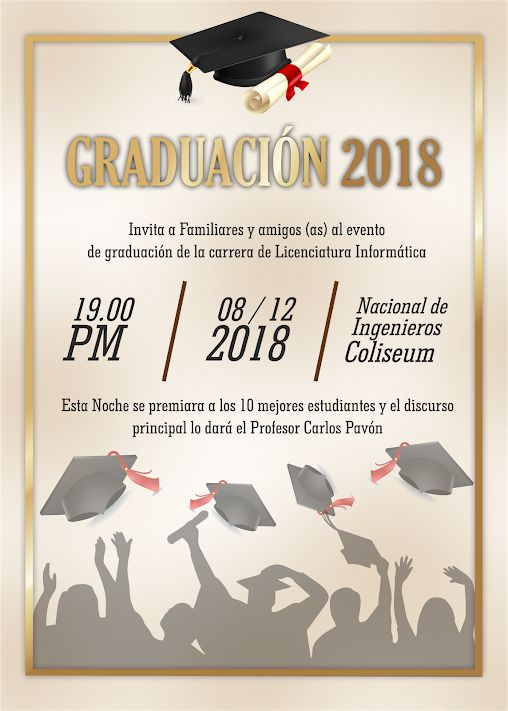 15 best tarjetas de invitaci u00f3n para graduaci u00f3n images on pinterest