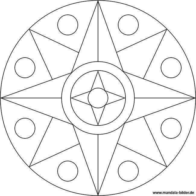 einfache mandala vorlage in sternform  mandala vorlagen