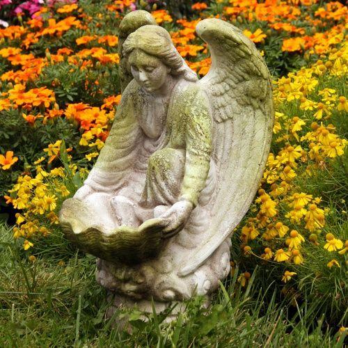 Orlandi Statuary Fegana Angel Garden Statue - Garden Statues at Hayneedle
