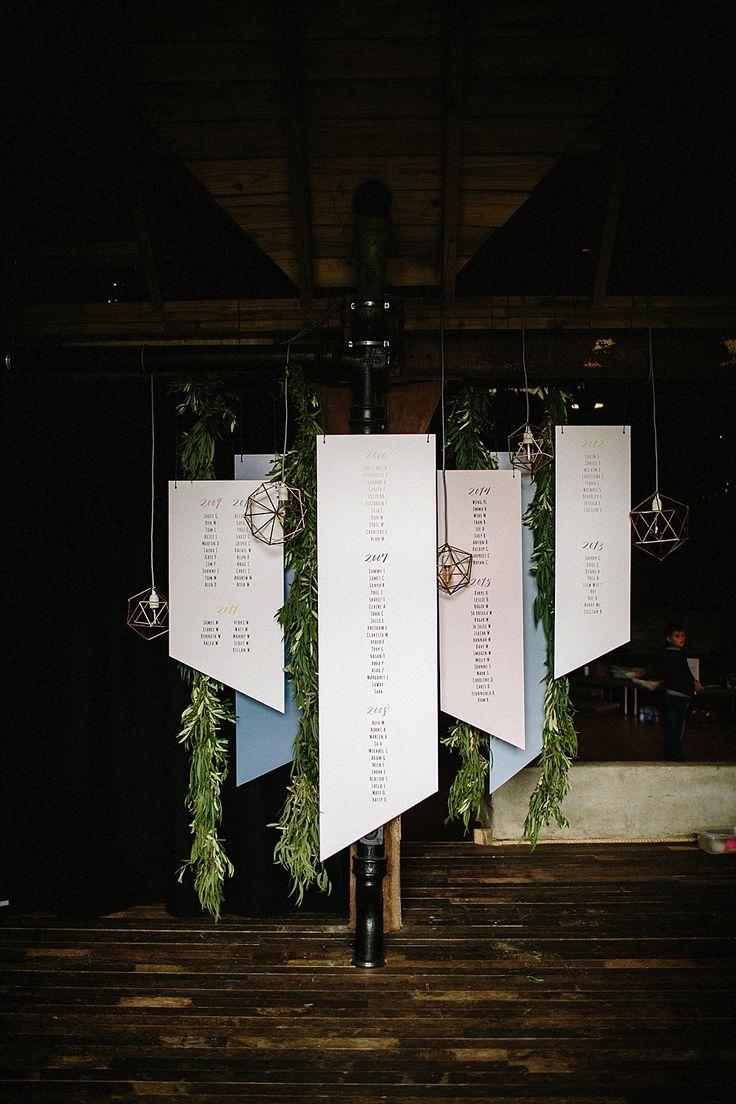 #sitzplan #seatingchart Table Plan and Seating Chart for Wedding - Rustikale Hochzeit mit geometrischem Chic in Schottland | Hochzeitsblog - The Little Wedding Corner