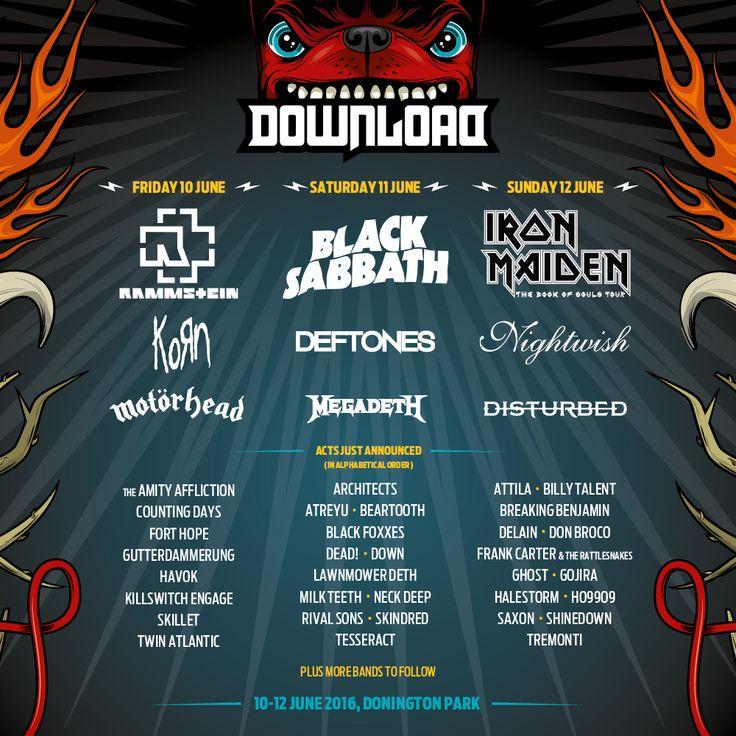 Download Festival 2016 Festival Poster