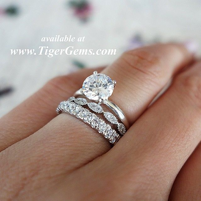 In need a new wedding band because mine had an unfortunate date with the garbage disposal. LOVING this stackable look!