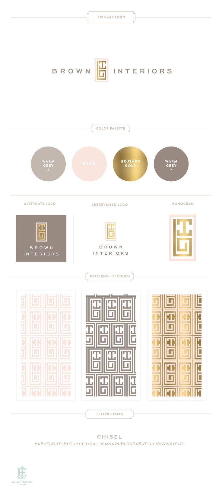 Branding Design for Brown Interiors  |  www.EmilyMcCarthy.com | Luxury Branding, Logo, Monogram, Interior Designer Branding