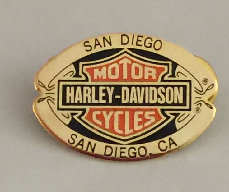 1998 Collectible Harley Davidson San Diego Bold Brass Enamel Etched Pin Pinback | eBay