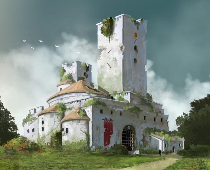 ArtStation - Abandoned manor, Nikodem Malec