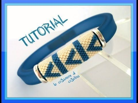 Tutorial Bracciale da Uomo con Regaliz in Plastica e Fascia in Peyote Dispari - DIY Bracelet for Men - YouTube