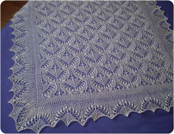 Christening Shawl Knitting Pattern Free : Hand knitted christening shawl by KnitANDlace, My works - knitted estonian ...