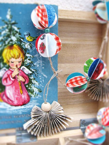 papieren kerst slinger van Old Made Awesome op DaWanda.com