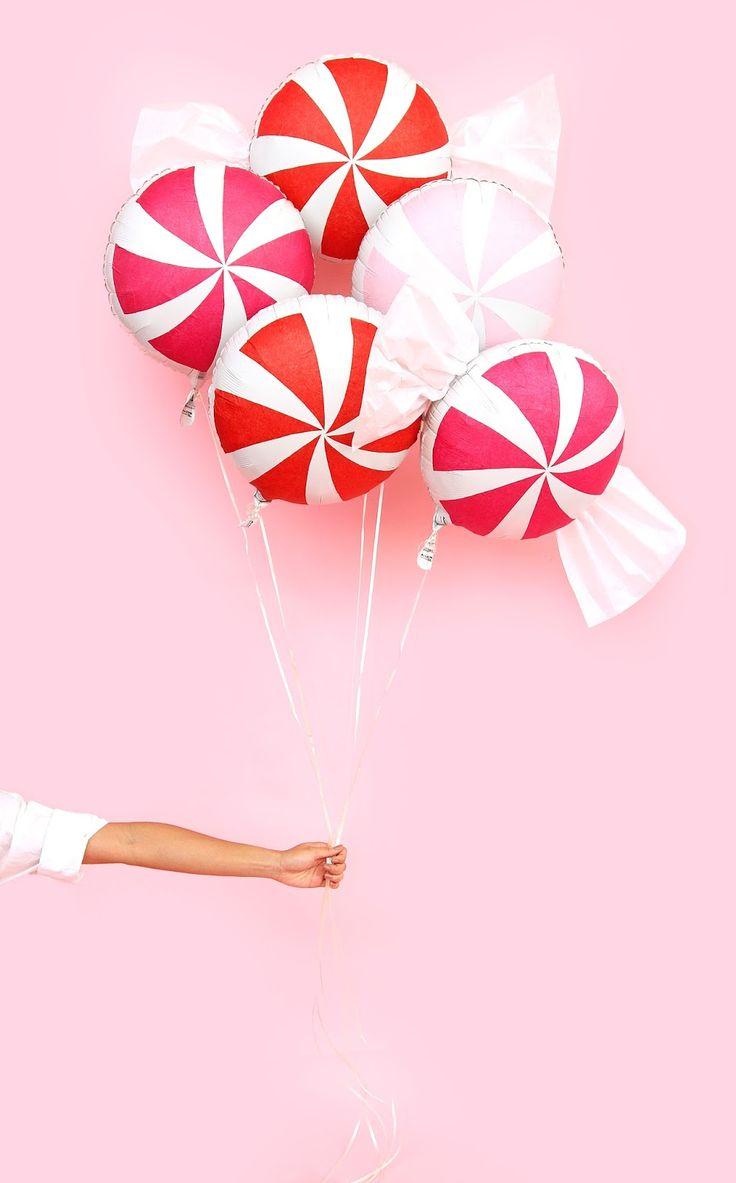 DIY Peppermint Candy Balloons