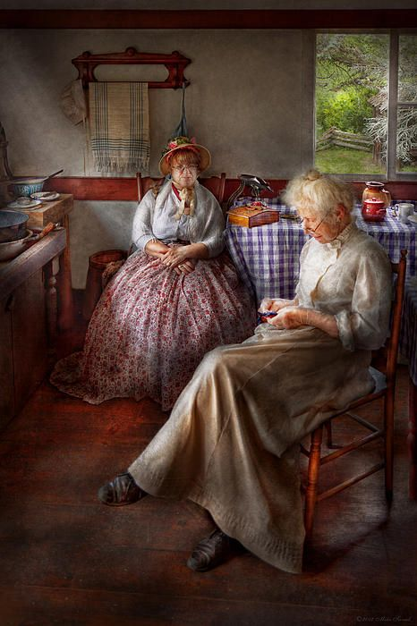 Mike Savad ~ Watching Her Sew For Hours