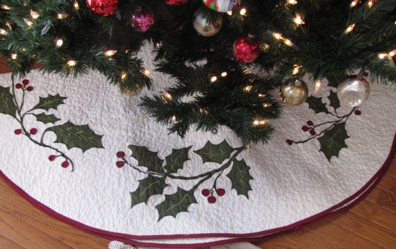 Personalized Quilted Christmas Tree Skirt  by monogramgiftshoppe, $65.99