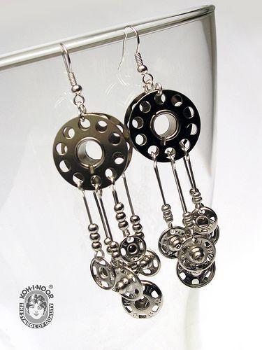 bobbin spool with snaps #2 - earrings