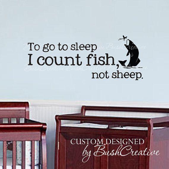Wall Decals Nursery Fishing Fish Baby Humor 04022 by bushcreative, $15.00
