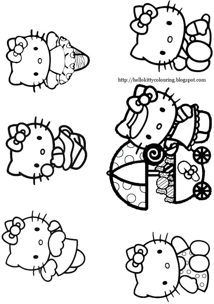 This Hello Kitty Coloring Page Shows Looking Very Cute Driving Her Car Along A