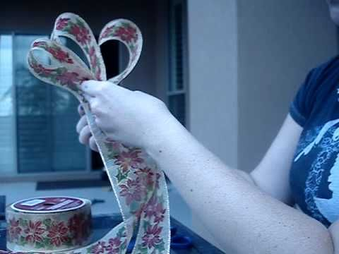 How to Make Decorative Bows For Wreaths - YouTube