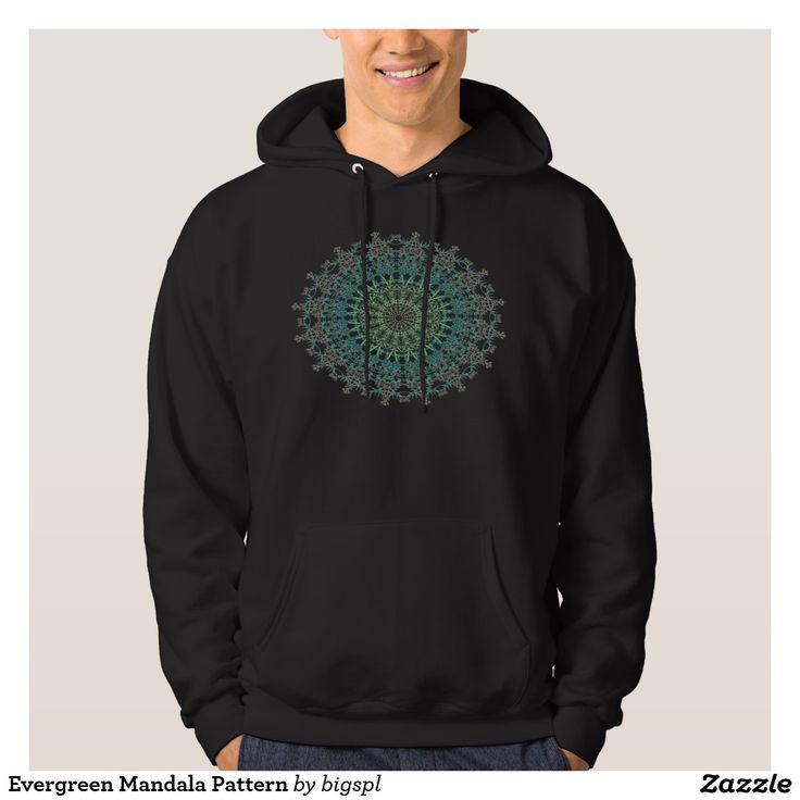 Evergreen Mandala Pattern Hoodie