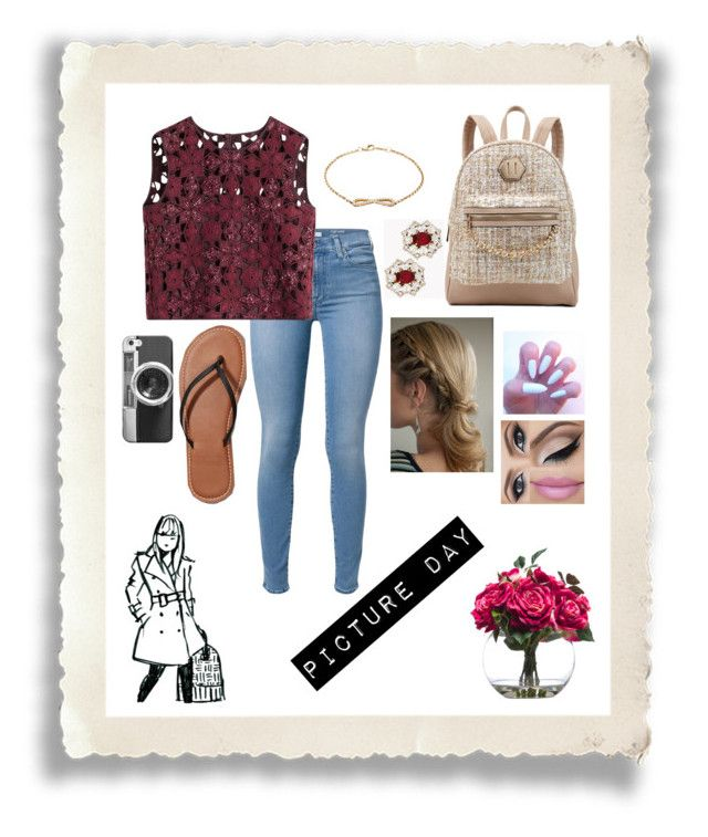 """""""Picture Day Outfit ❤"""" by emmacouture2339 ❤ liked on Polyvore featuring 7 For All Mankind, Alberta Ferretti, Abercrombie & Fitch, ALDO, Nephora, Casetify, Dsquared2 and Lux-Art Silks"""