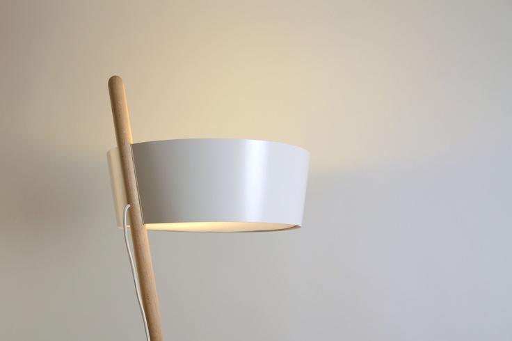 Ka XL is a floor lamp made of beech wood by WOODENDOT.