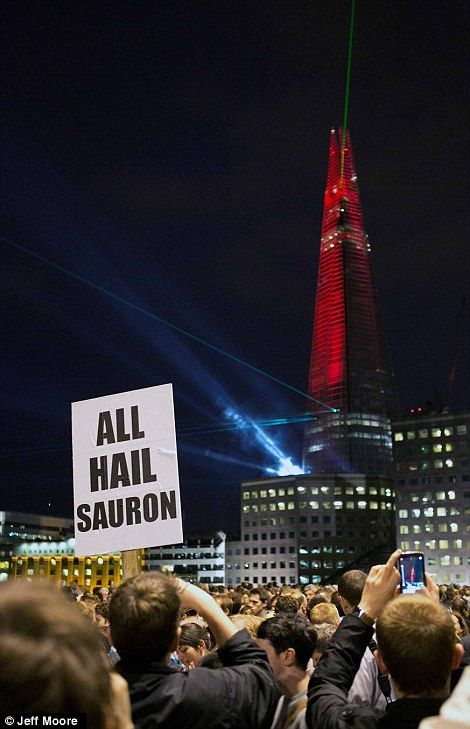 Opening of The Shard: The Shard, Building, This Is Awesome, Funny Pictures, Amazing Things, Funny Stuff, Lights Show, Hail Sauron, Families